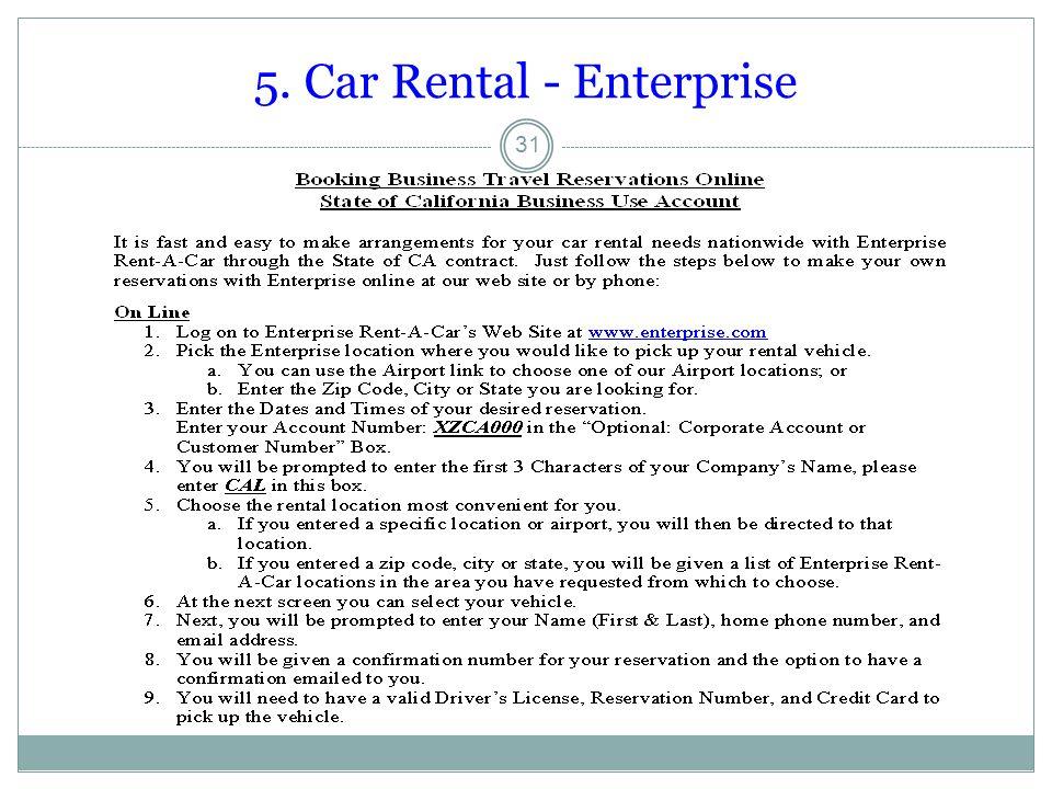 5. Car Rental - Enterprise