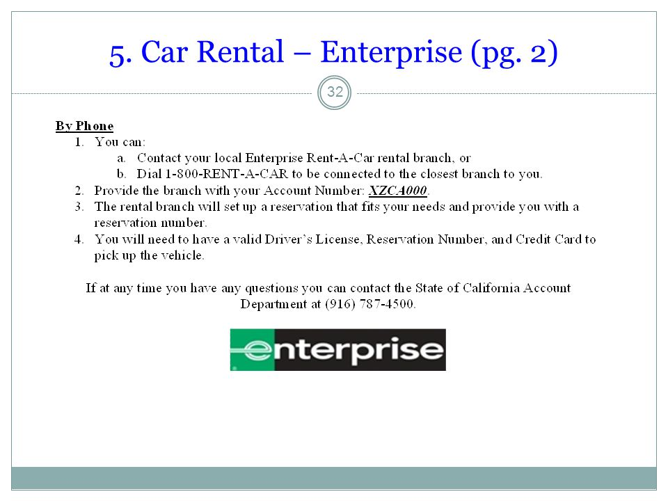 5. Car Rental – Enterprise (pg. 2)