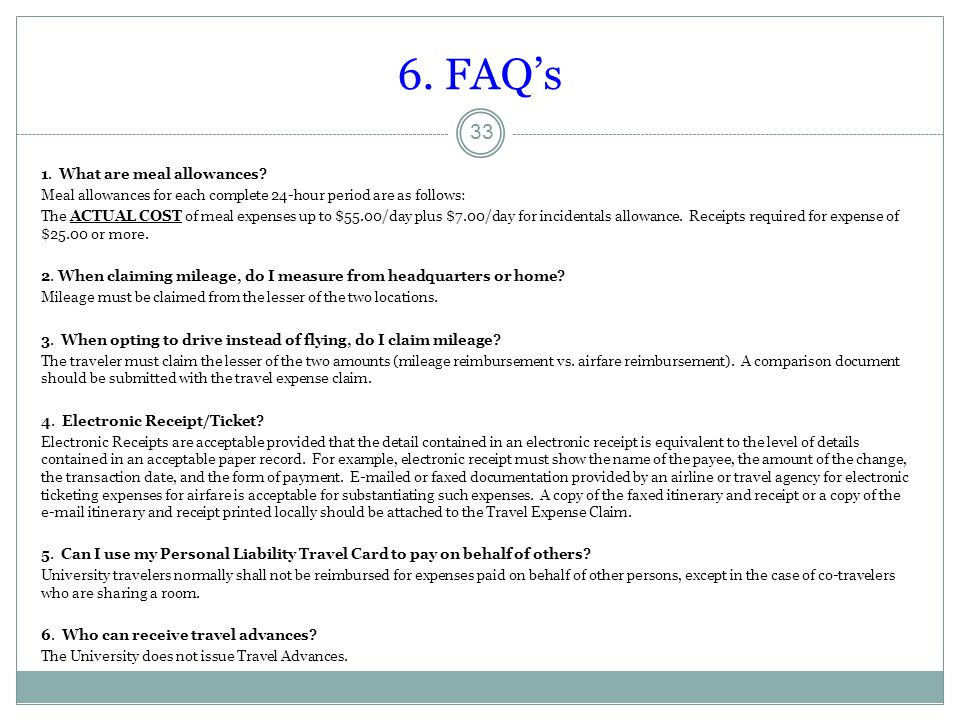 6. FAQ's