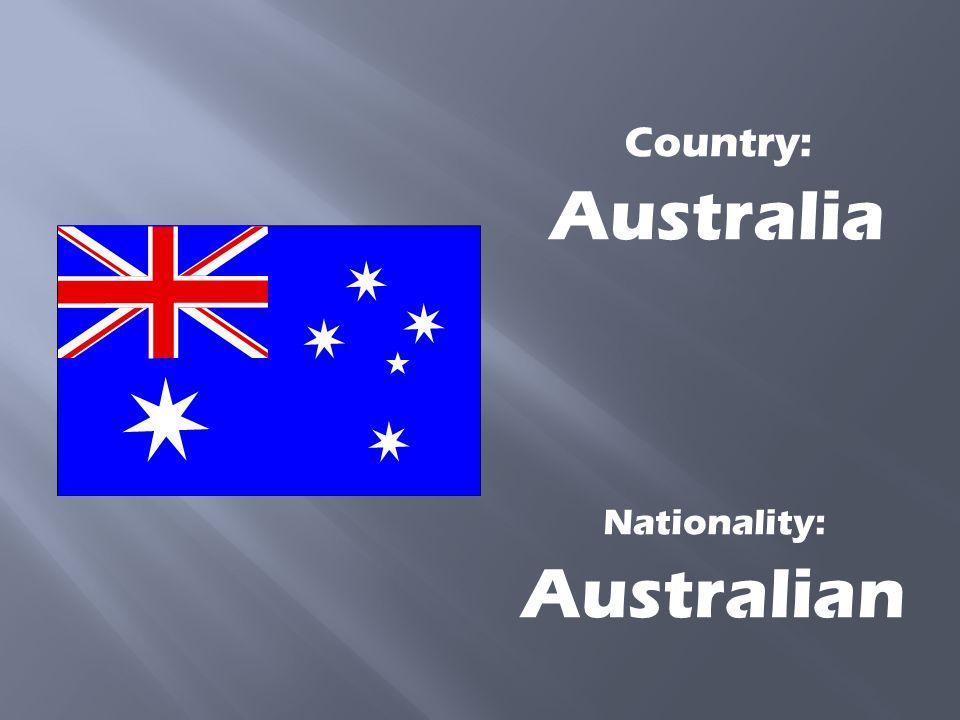 Nationality: Australian
