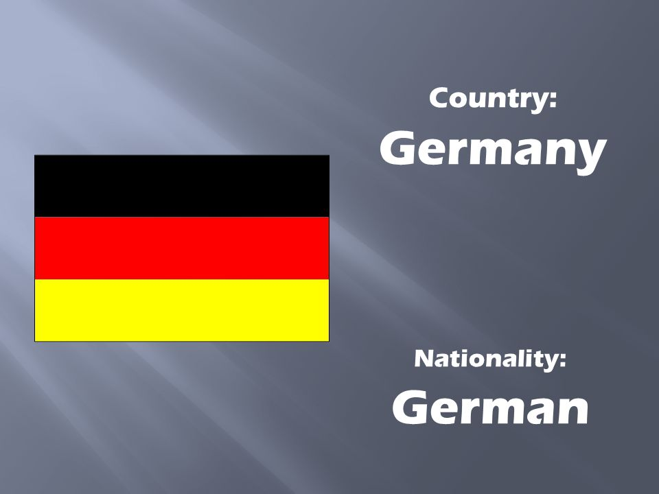 Country: Germany Nationality: German