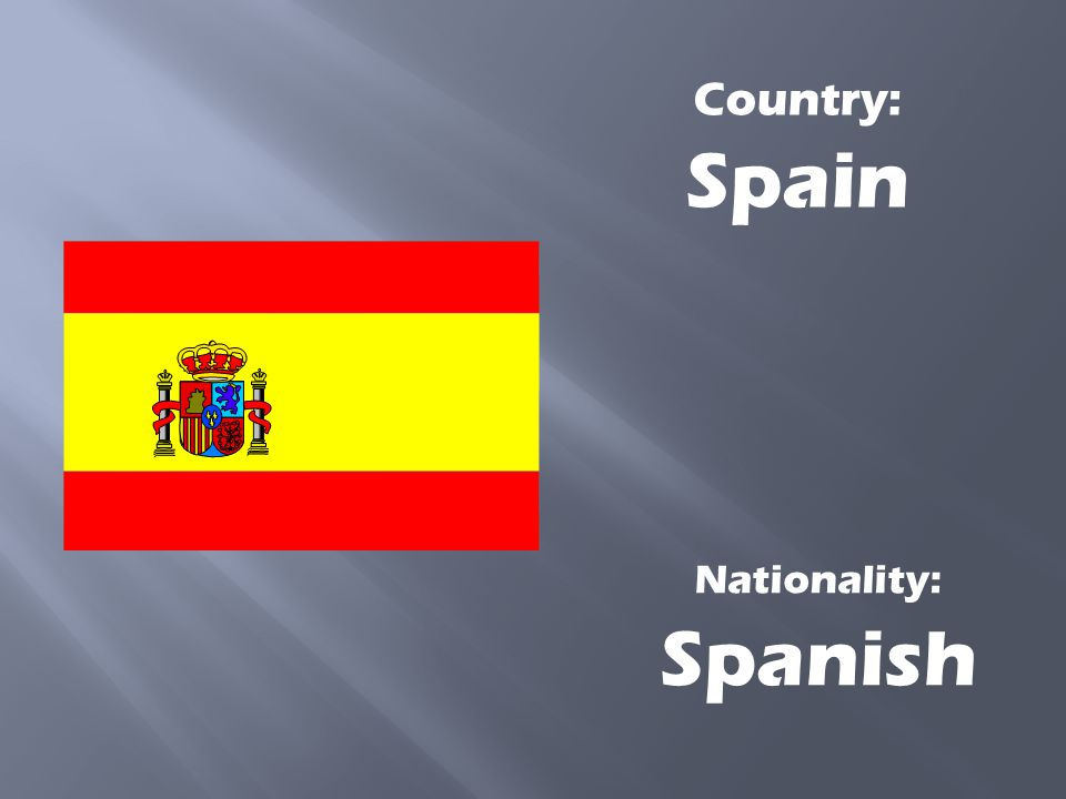 Country: Spain Nationality: Spanish