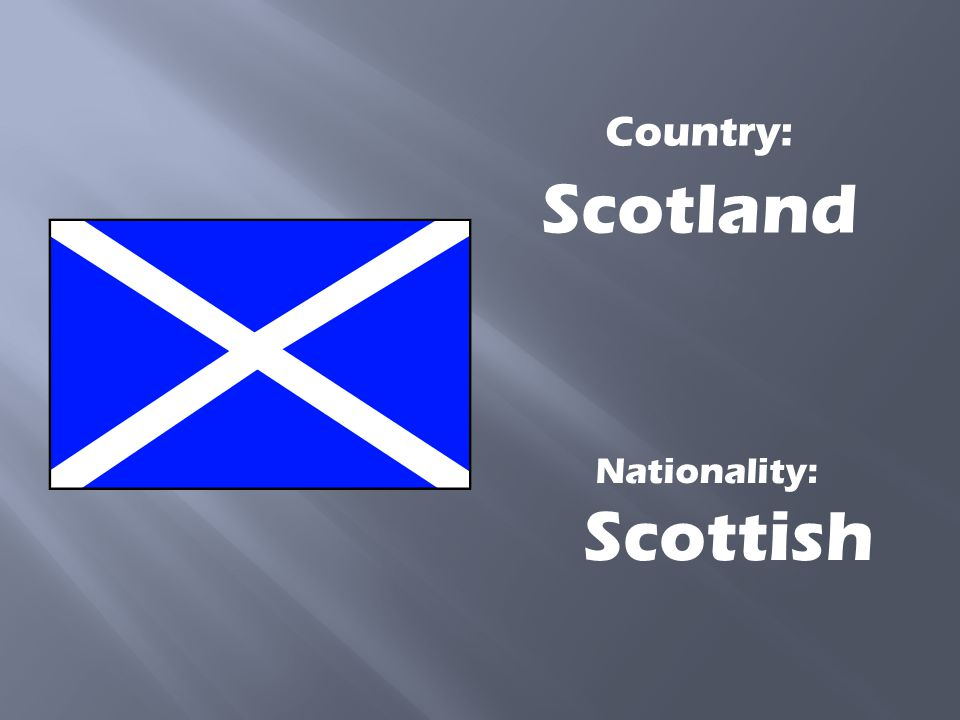 Nationality: Scottish