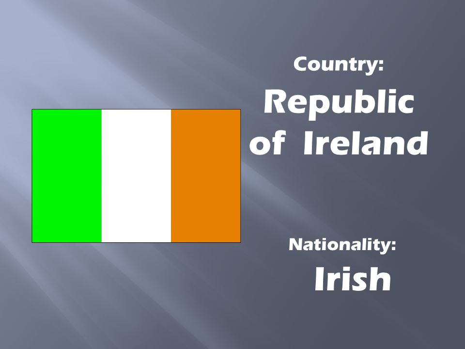 Country: Republic of Ireland