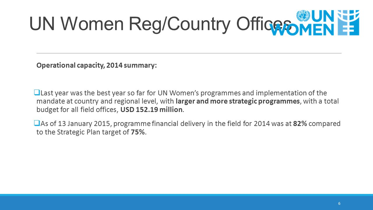 UN Women Reg/Country Offices