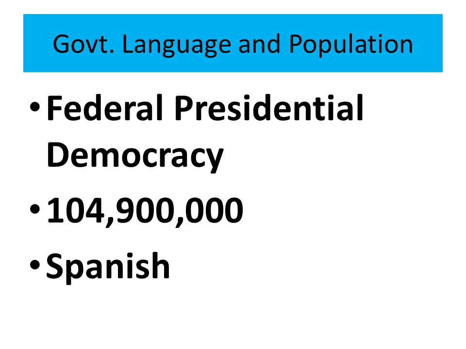 Govt. Language and Population