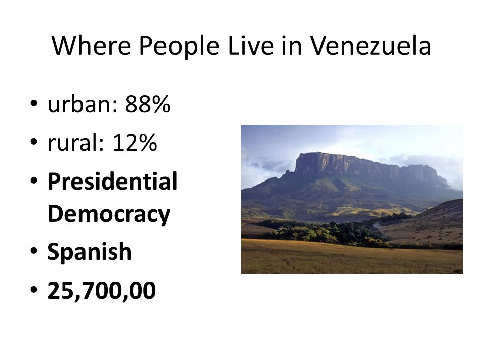 Where People Live in Venezuela