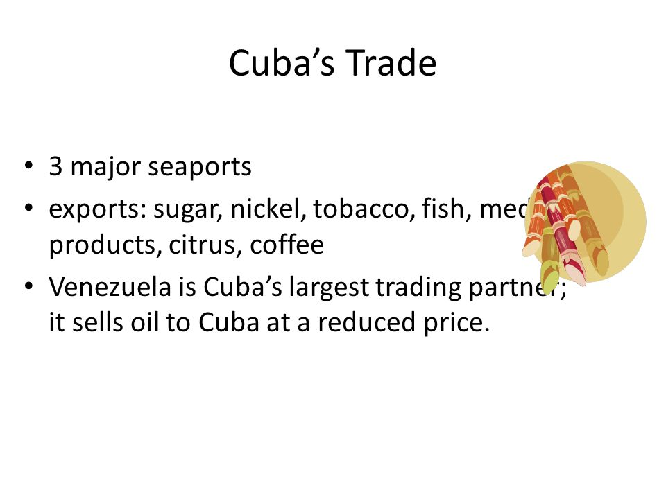 Cuba's Trade 3 major seaports