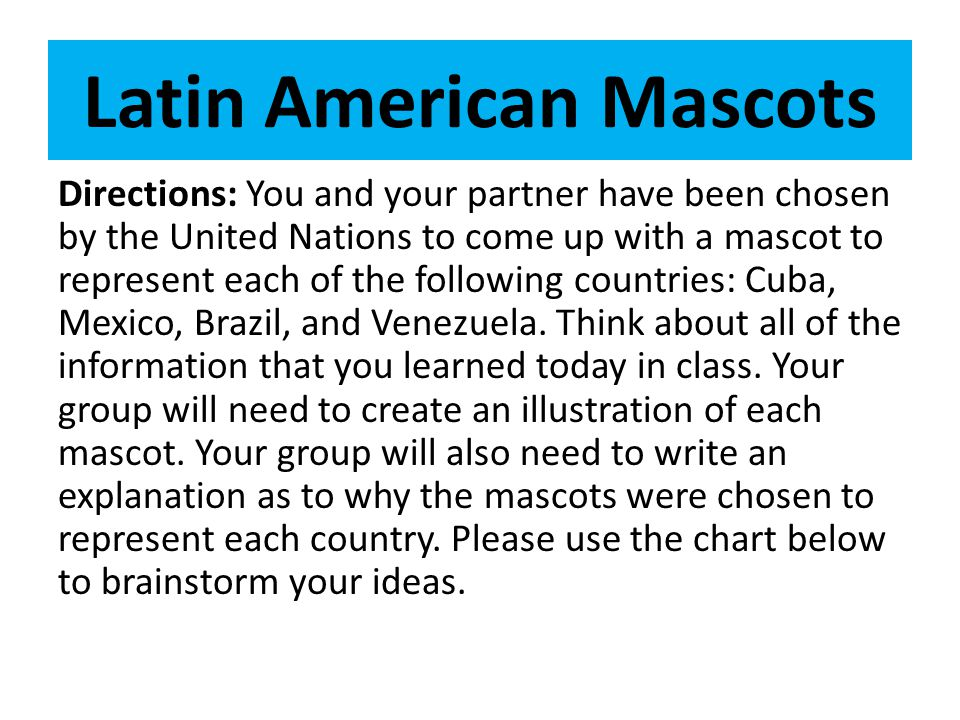 Latin American Mascots