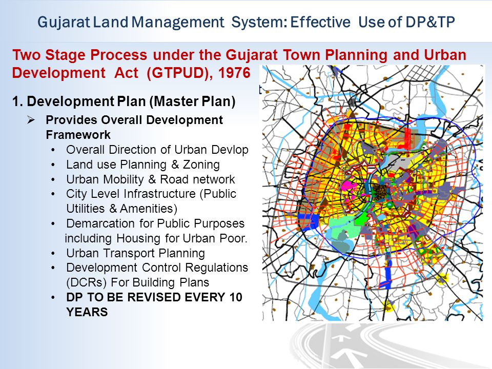 Gujarat Land Management System: Effective Use of DP&TP