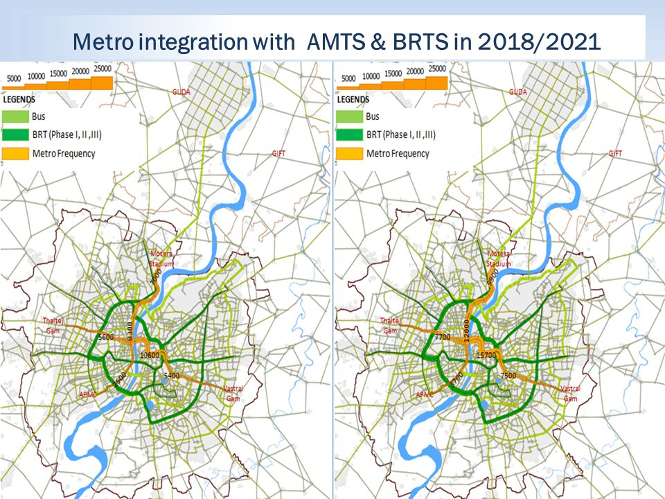 Metro integration with AMTS & BRTS in 2018/2021