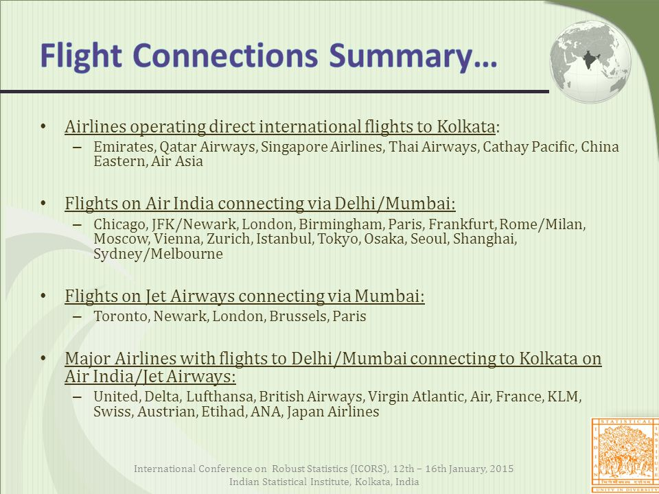Flight Connections Summary…