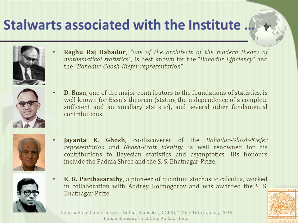 Stalwarts associated with the Institute …