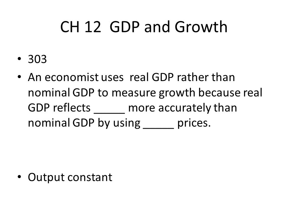 CH 12 GDP and Growth 303.
