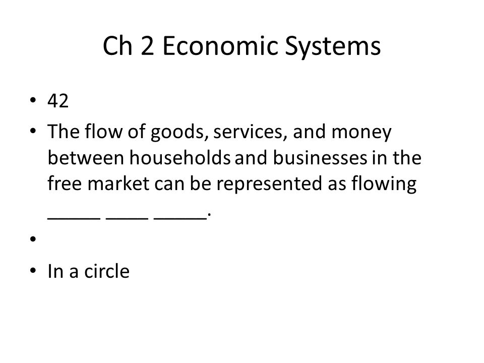 Ch 2 Economic Systems 42.