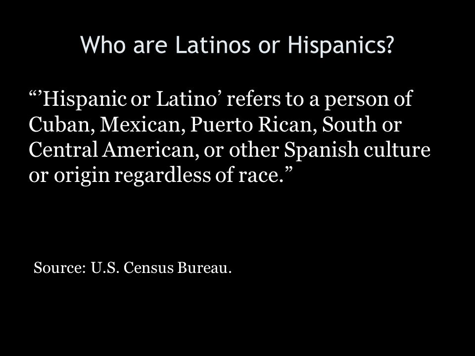 Who are Latinos or Hispanics