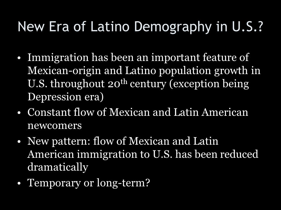 New Era of Latino Demography in U.S.