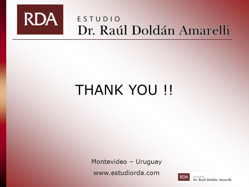 THANK YOU !! Montevideo – Uruguay www.estudiorda.com