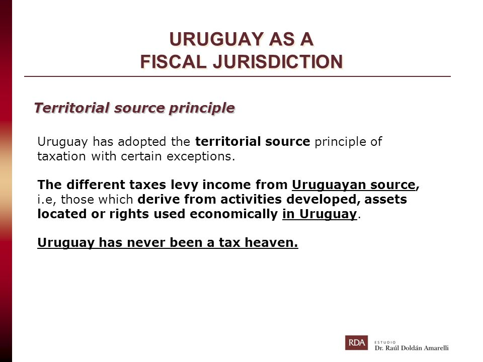 URUGUAY AS A FISCAL JURISDICTION