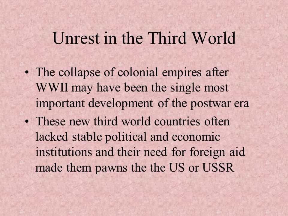 Unrest in the Third World