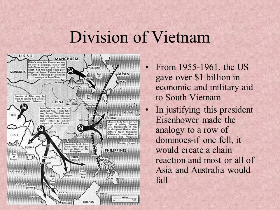 Division of Vietnam From , the US gave over $1 billion in economic and military aid to South Vietnam.