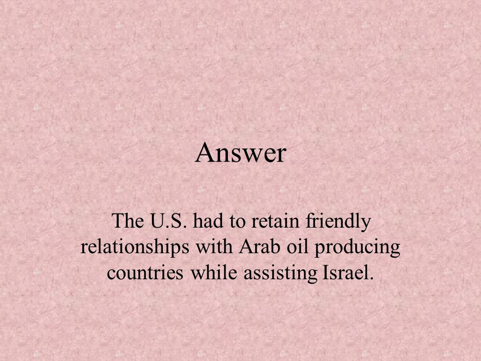 Answer The U.S.