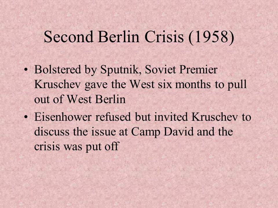 Second Berlin Crisis (1958)
