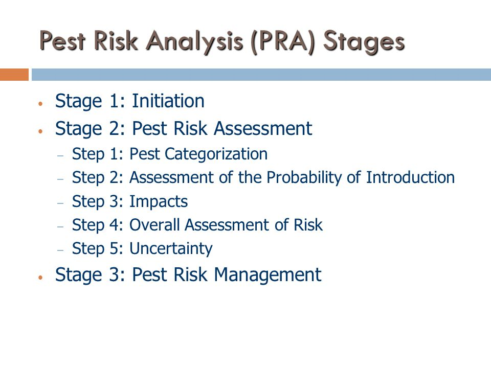 Pest Risk Analysis (PRA) Stages