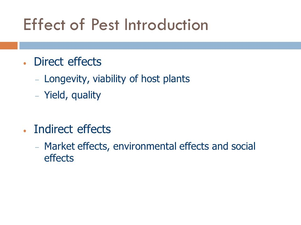 Effect of Pest Introduction