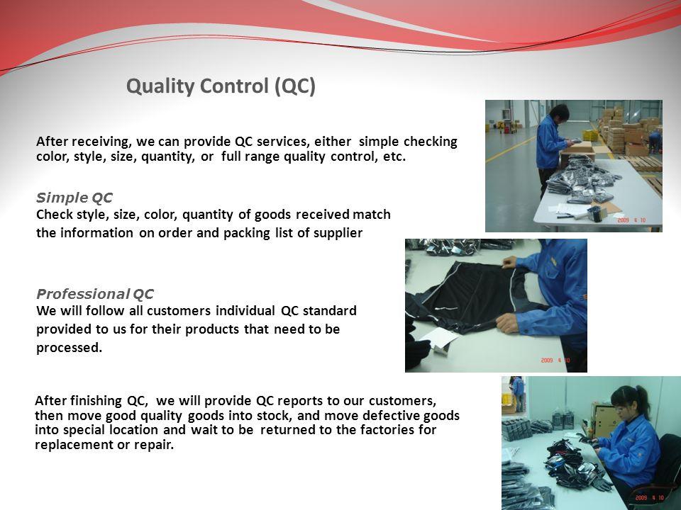 Quality Control (QC)