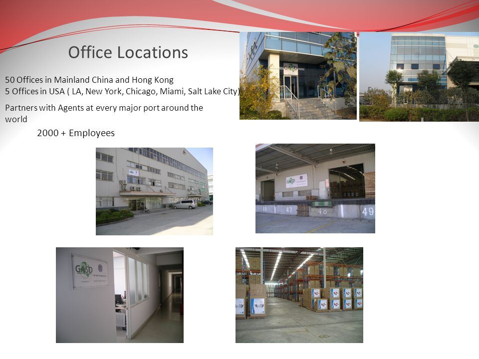 Office Locations 2000 + Employees
