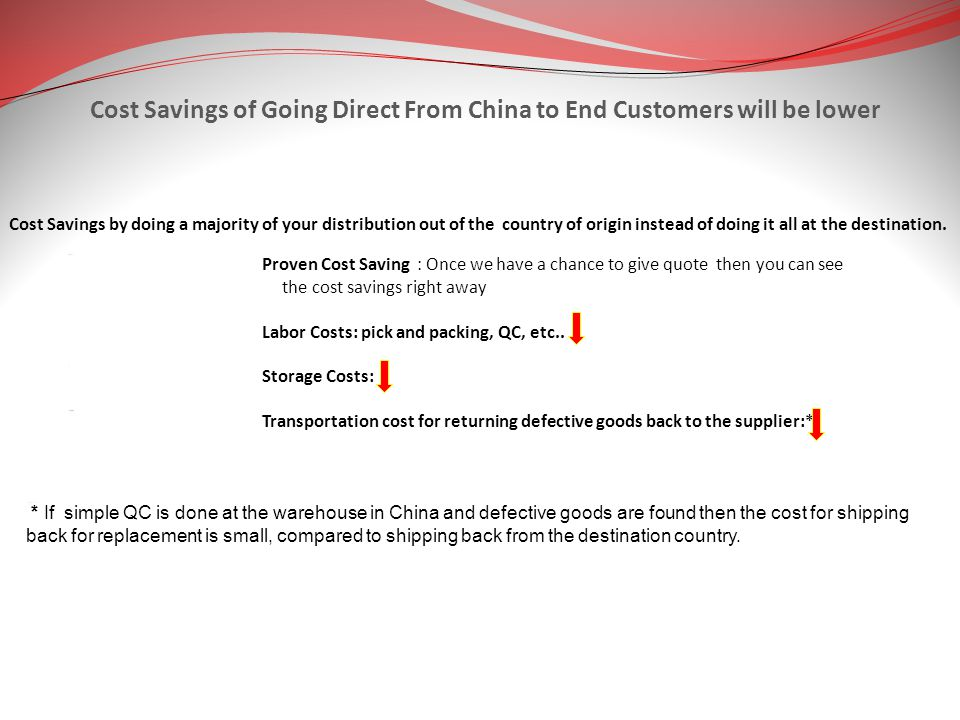 Cost Savings of Going Direct From China to End Customers will be lower