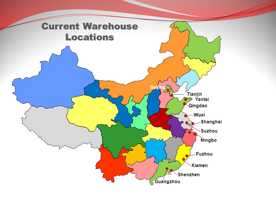 Current Warehouse Locations