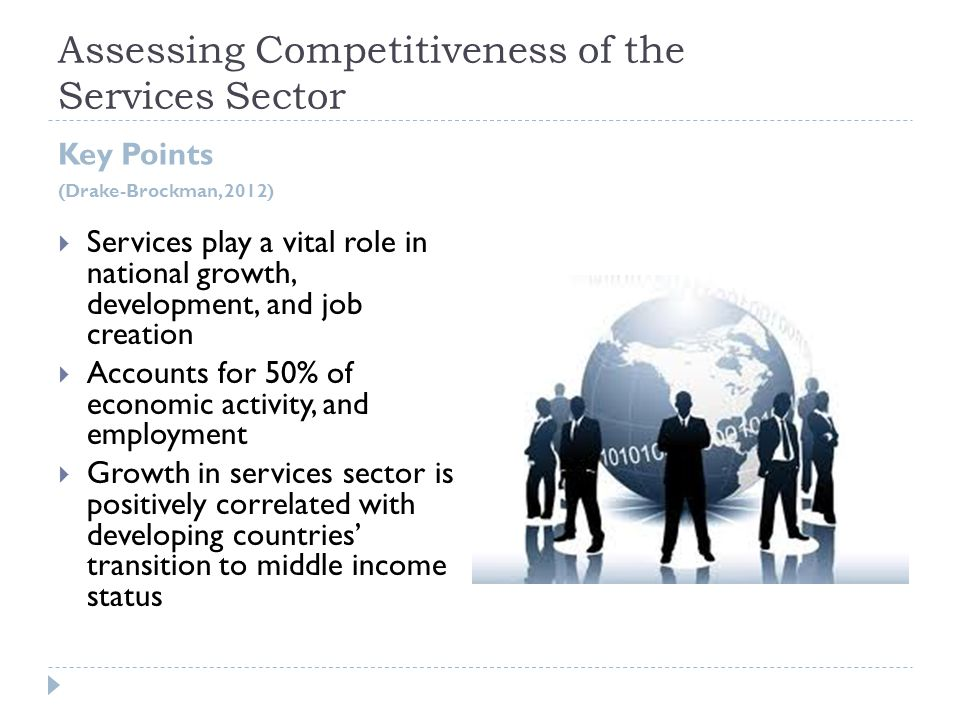 Assessing Competitiveness of the Services Sector