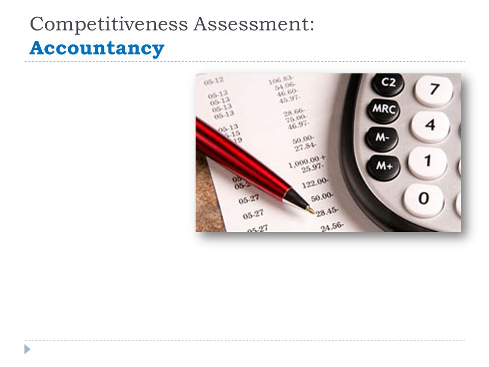 Competitiveness Assessment: Accountancy