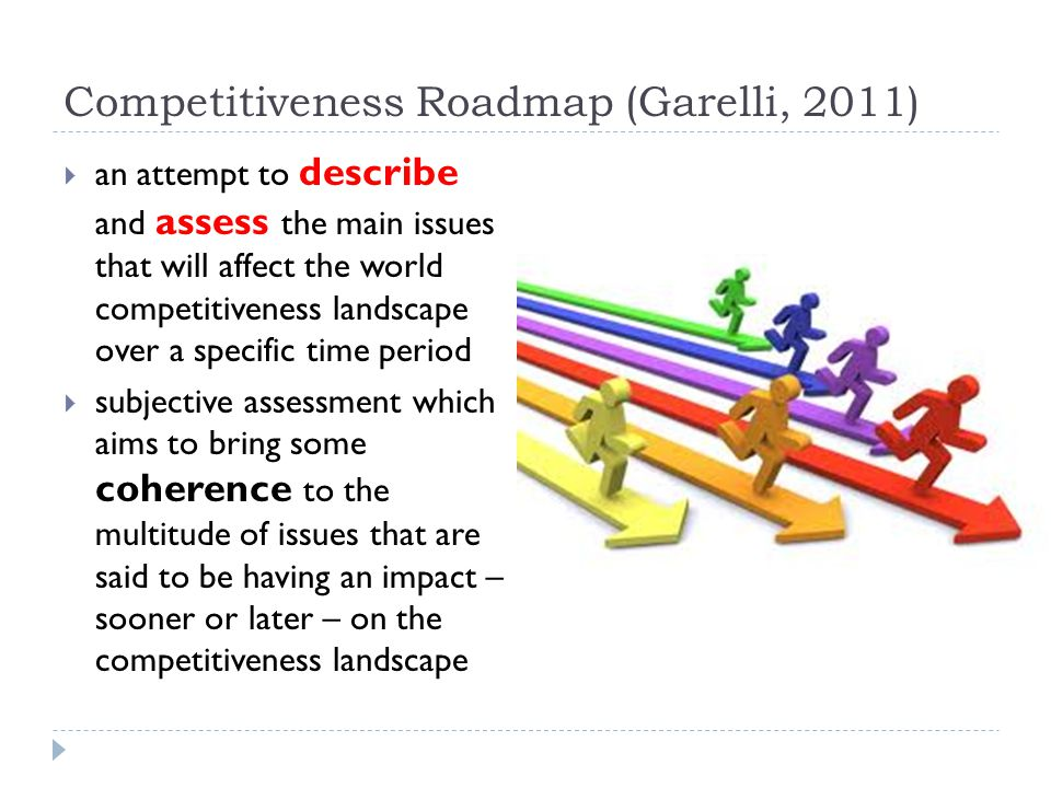 Competitiveness Roadmap (Garelli, 2011)