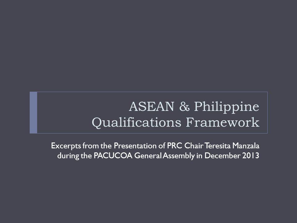 ASEAN & Philippine Qualifications Framework