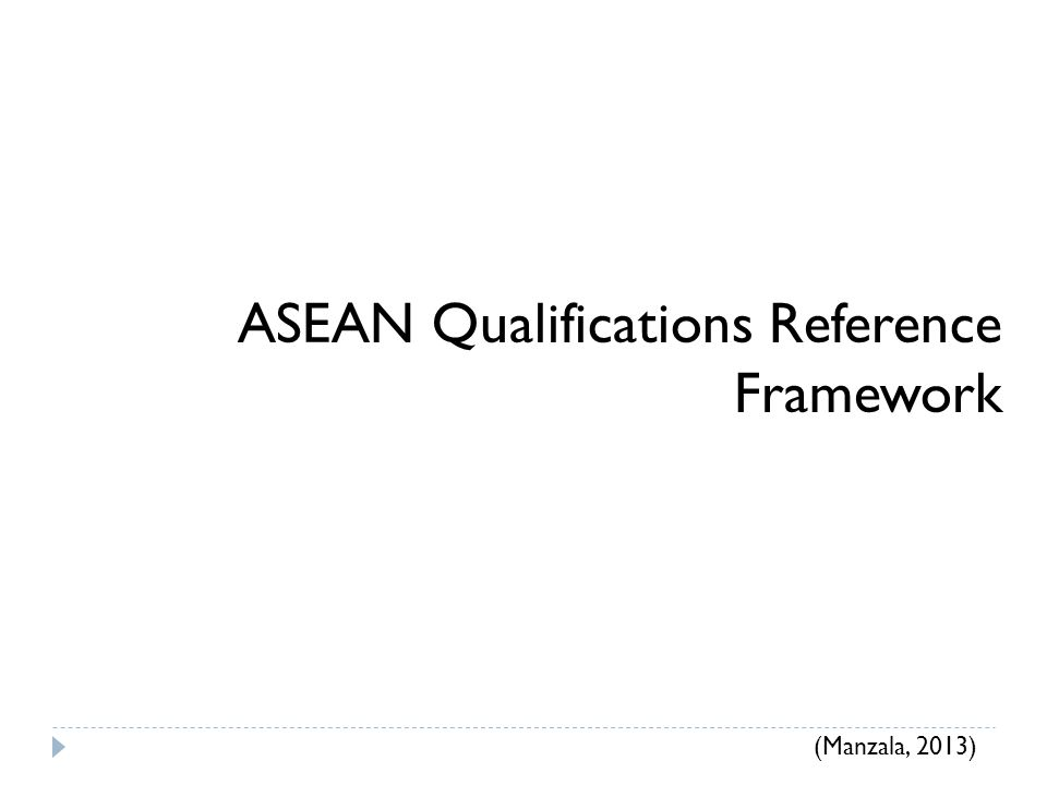 ASEAN Qualifications Reference Framework