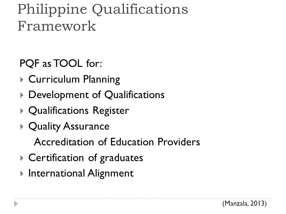 Philippine Qualifications Framework
