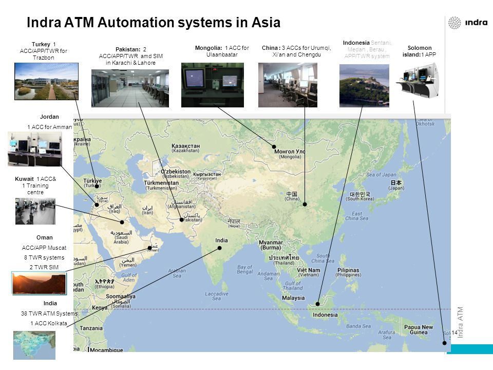 Indra ATM Automation systems in Asia