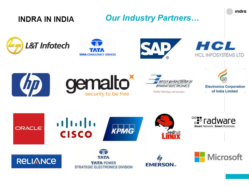 Our Industry Partners…