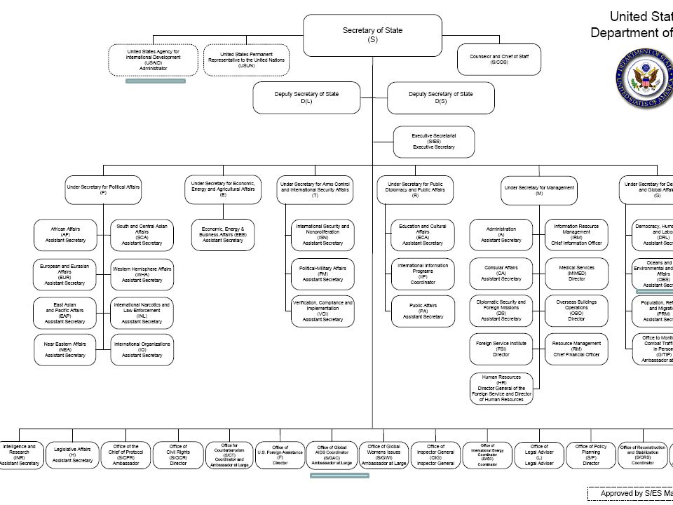 This is how the organizational hierarchy looks now