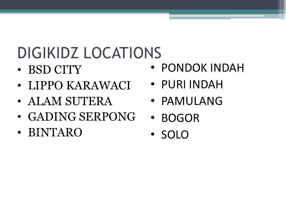 DIGIKIDZ LOCATIONS PONDOK INDAH PURI INDAH PAMULANG BOGOR SOLO