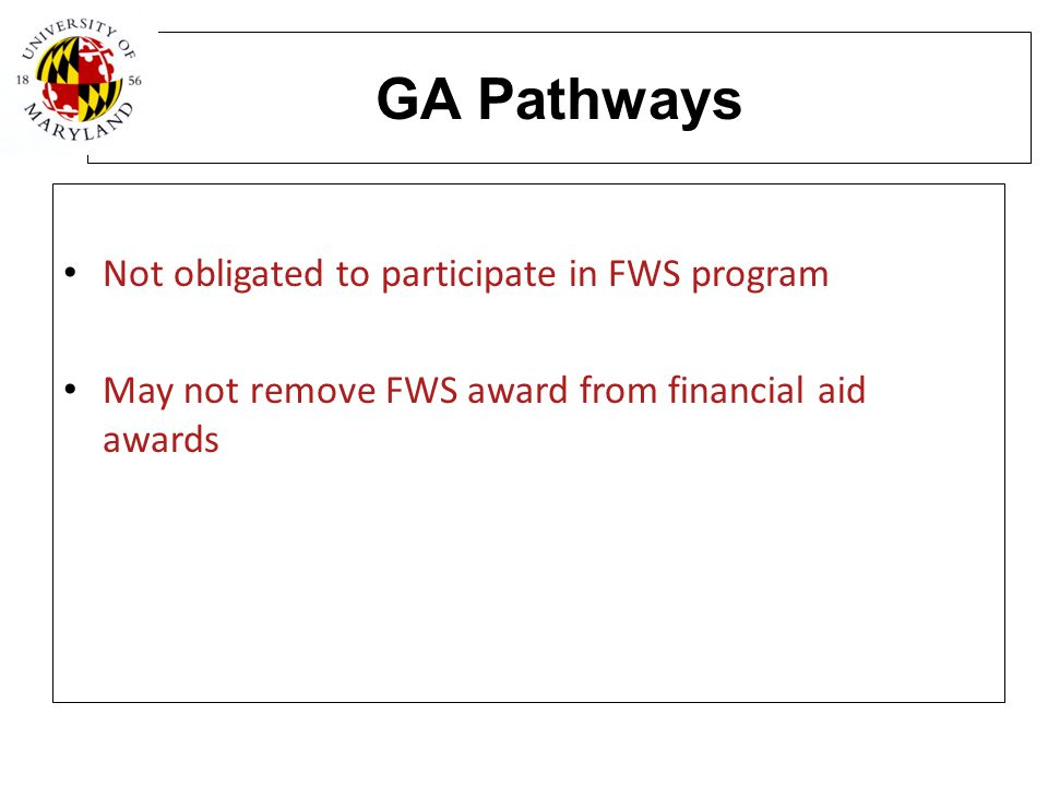 GA Pathways Not obligated to participate in FWS program