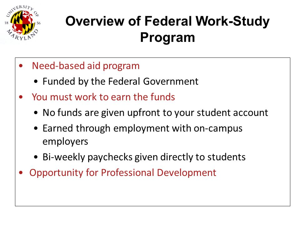 Overview of Federal Work-Study Program