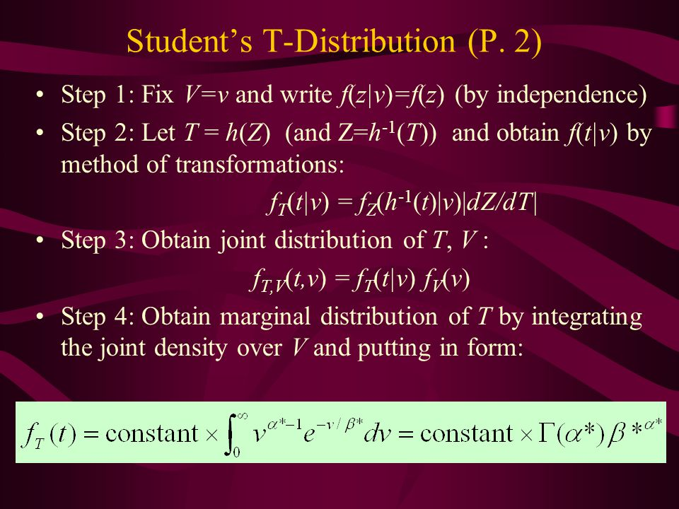 Student's T-Distribution (P. 2)