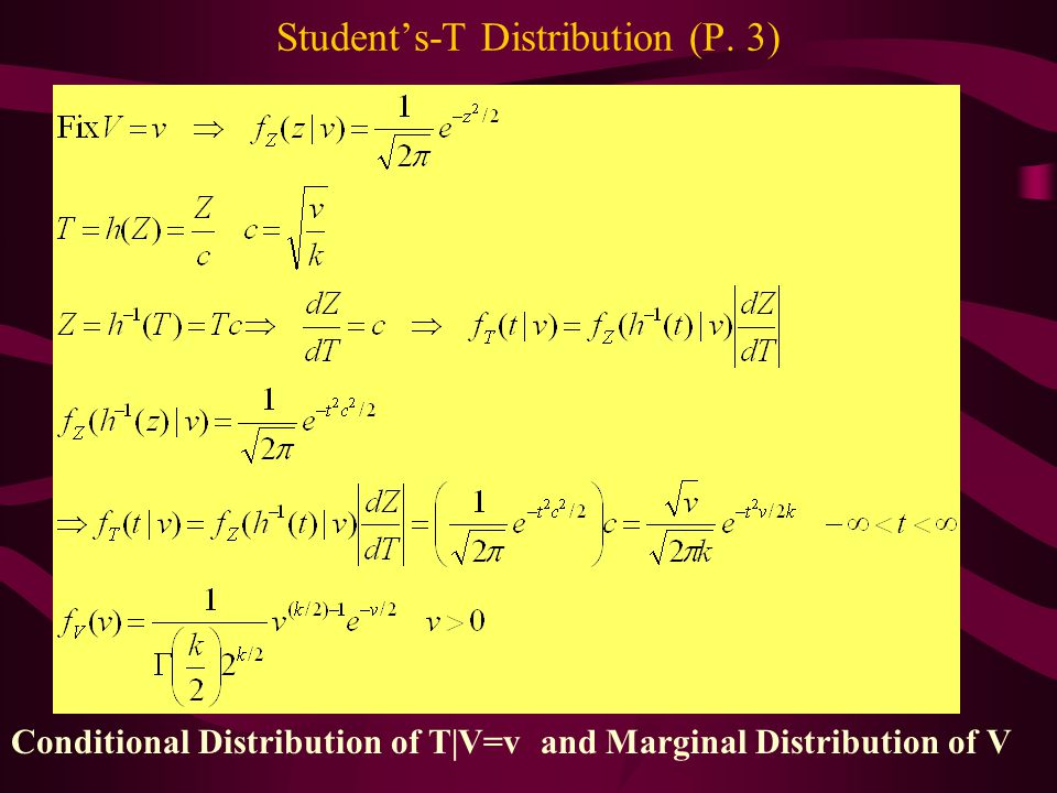 Student's-T Distribution (P. 3)