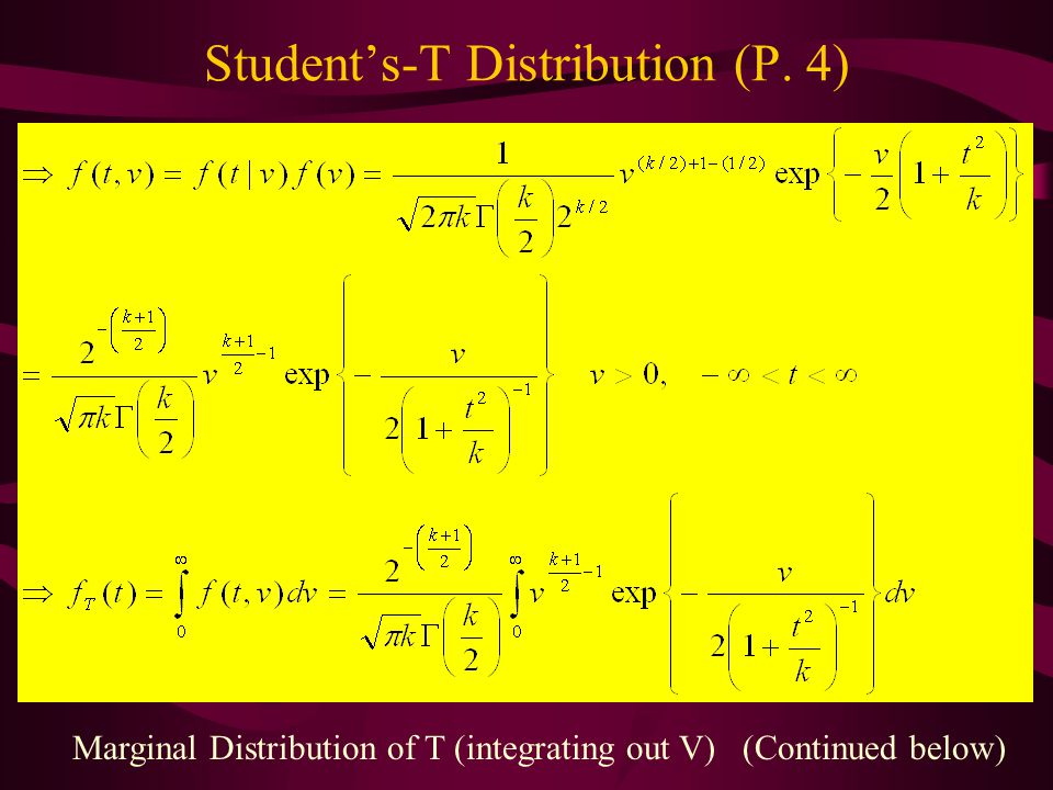 Student's-T Distribution (P. 4)