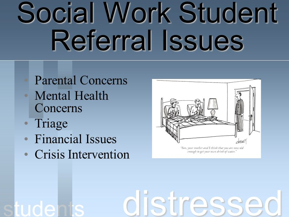 distressed Social Work Student Referral Issues students