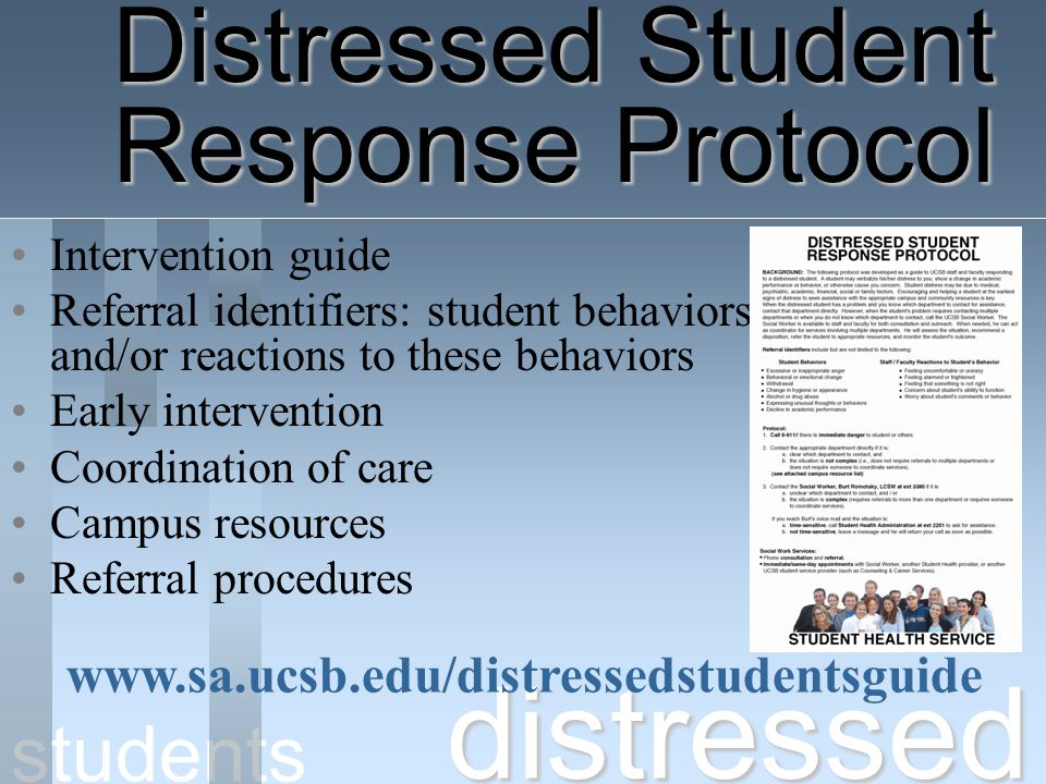 Distressed Student Response Protocol